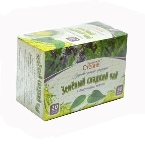 Крымская стевия чай зеленый со стевией и мятой 30 г