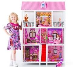 PAREMO Трехэтажный кукольный дом (5 комнат, 5 кукол) (PPCD116-05)