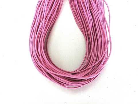 Шляпная резинка, толщина 1мм, цвет барби. 1м.