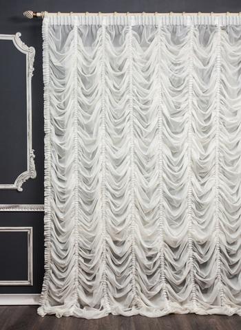 Готовая французская штора Беатрикс белый