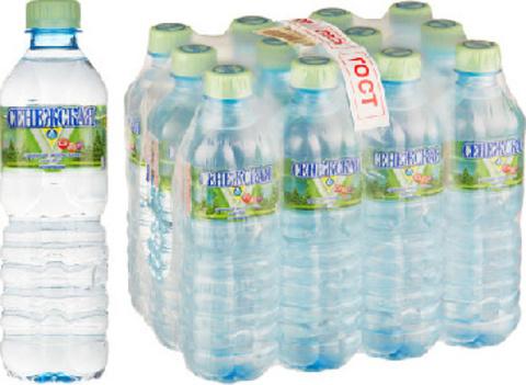 Вода минеральная Сенежская негазированная 0.5 л (12 штук в упаковке)