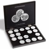 Презентационный бокс для 20 серебряных монет «Коала» в капсулах, черный