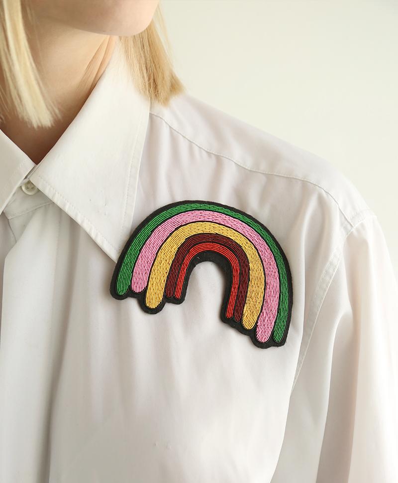 Брошь Large rainbow