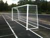 Футбольные ворота алюминиевые 2х5 м. юниорские (пара), кв. 80х80мм.