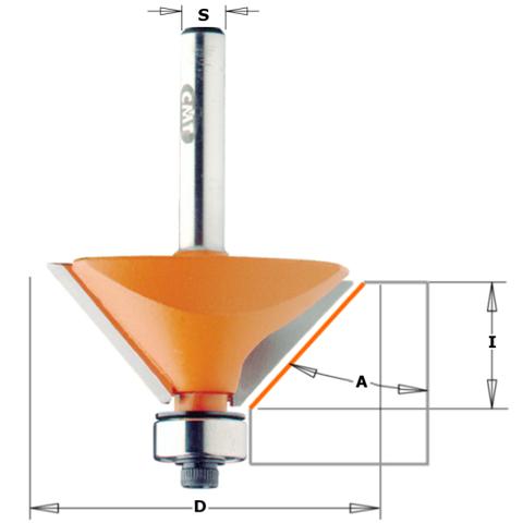 Фреза концевая CMT фасочная D=19,0 I=11,5 S=8,0