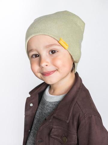 детская шапка из итальянской шерсти светло-салатовая