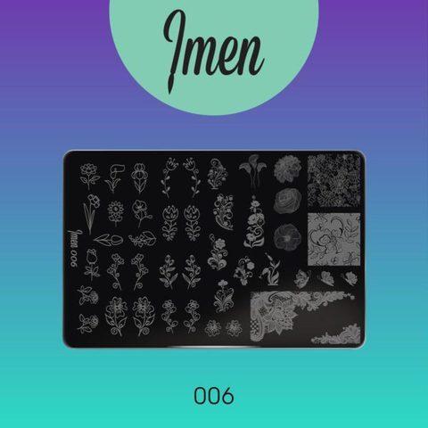 Пластина Imen для стемпинга #006