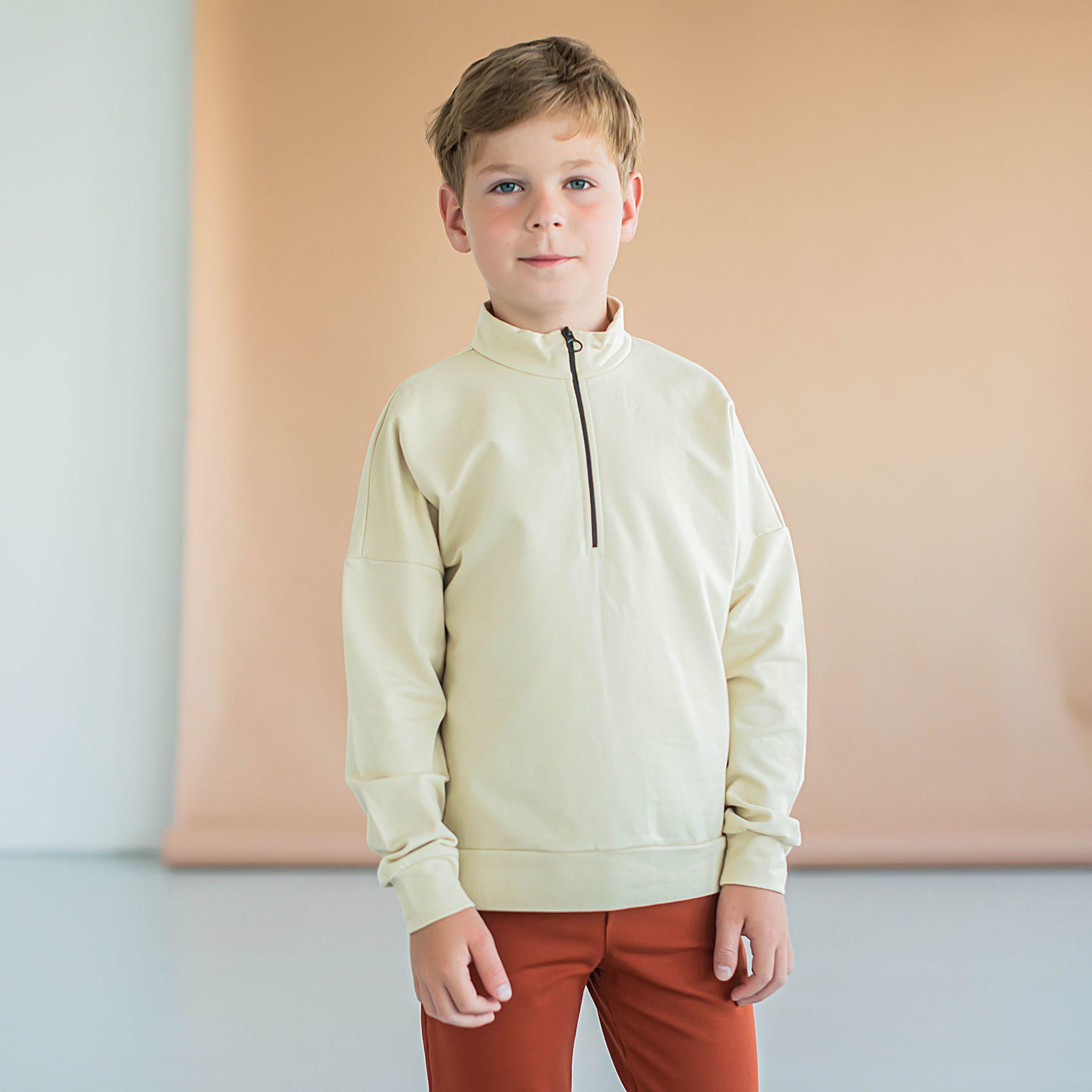Sporty sweatshirt for teens - Safari