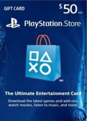 PS Store USA: Пополнение бумажника на 50$ (цифровая версия)