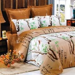 Сатиновое постельное бельё  1,5 спальное Сайлид  В-69