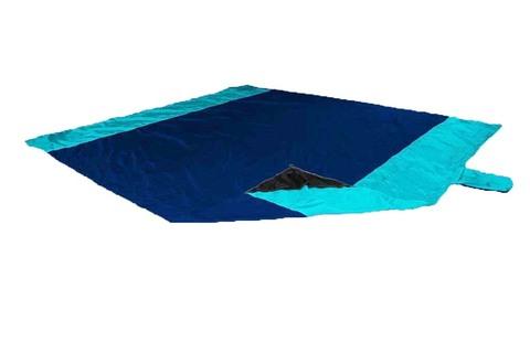 Картинка пляжное покрывало Ticket to the Moon Beach Blanket Navy/Turquoise - 1