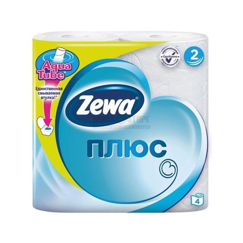 Бумага туалетная ZEWA Plus белая 4 рул РОССИЯ