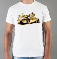 Футболка с принтом Ламборджини, Ламборгини (Lamborghini) белая 0020