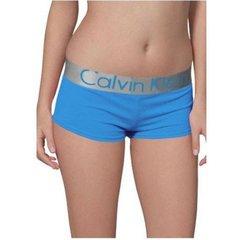 Женские трусы боксеры голубые Calvin Klein Women BOxER blue Modal
