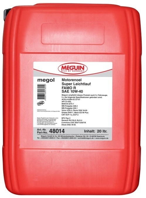 Meguin Super Leichtlauf FAMO R SAE 10W40 48016  Моторное масло для смешанных автопарков