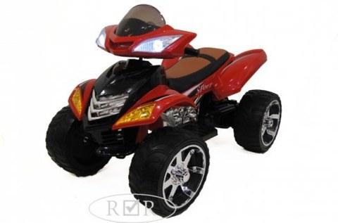 Электроквадроцикл Rivertoys E005KX-A красный кожа+надувные колеса