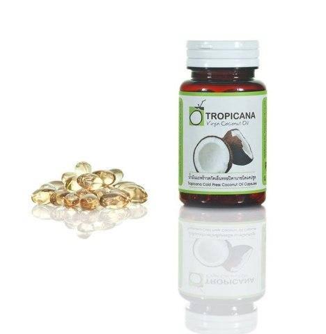 БАД кокосовое масло Tropicana в капсулах для приёма внутрь, 60 капсул
