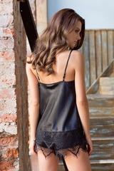 Сексуальная пижамка с ажуром Magdalena черная