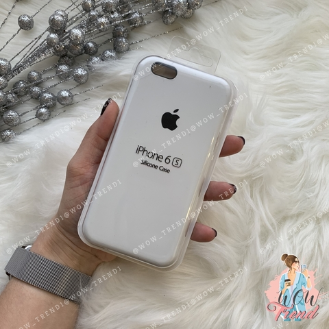 Чехол iPhone 6/6s Silicone Case /white/ белый 1:1