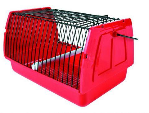 Trixiе 5901 Переноска д/птиц пластиковая с решетками и жердочкой 22*15*14см