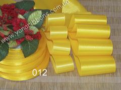 Лента атласная однотонная желтая - 012
