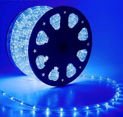 Дюралайт светодиодный, трехпроводной, круглый 13 мм, Синий, 36 LED/м, кратность резки 2 метра