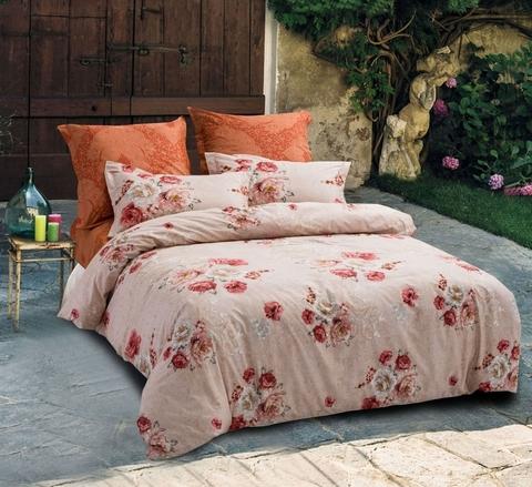 Сатиновое постельное бельё  1,5 спальное Сайлид  В-168