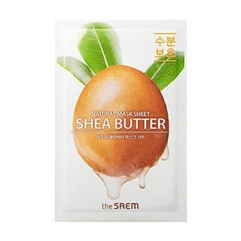 THE SAEM Маска тканевая с экстрактом масла ши Natural Shea Butter Mask Sheet 21мл