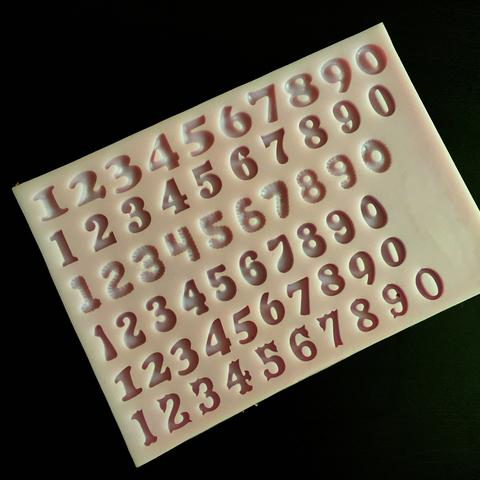 Молд силиконовый ЦИФРЫ РАЗНЫЕ  МИНИ 6 видов (высота 10мм)