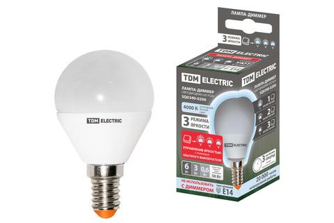 Лампа светодиодная FG45-6 Вт-230 В-3000 К–E14
