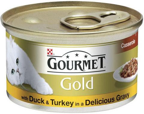 Gourmet Кусочки в соусе с уткой и индейкой Gourmet Gold Duo д/кошек. 85 г