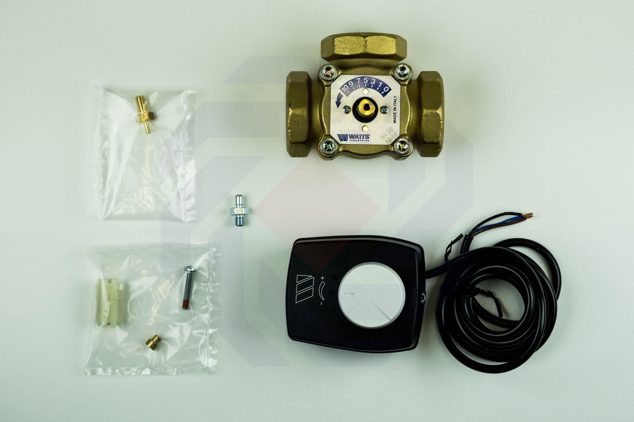 Клапан поворотный трехходовой с электроприводом WATTS V3GB 1½