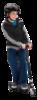 Самокат для детей Razor Tekno чёрный