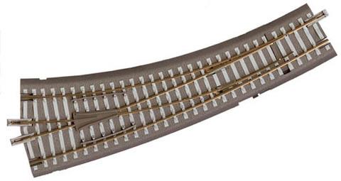 IBW: Радиусная стрелка, на насыпи - Левая 15° (руч.)