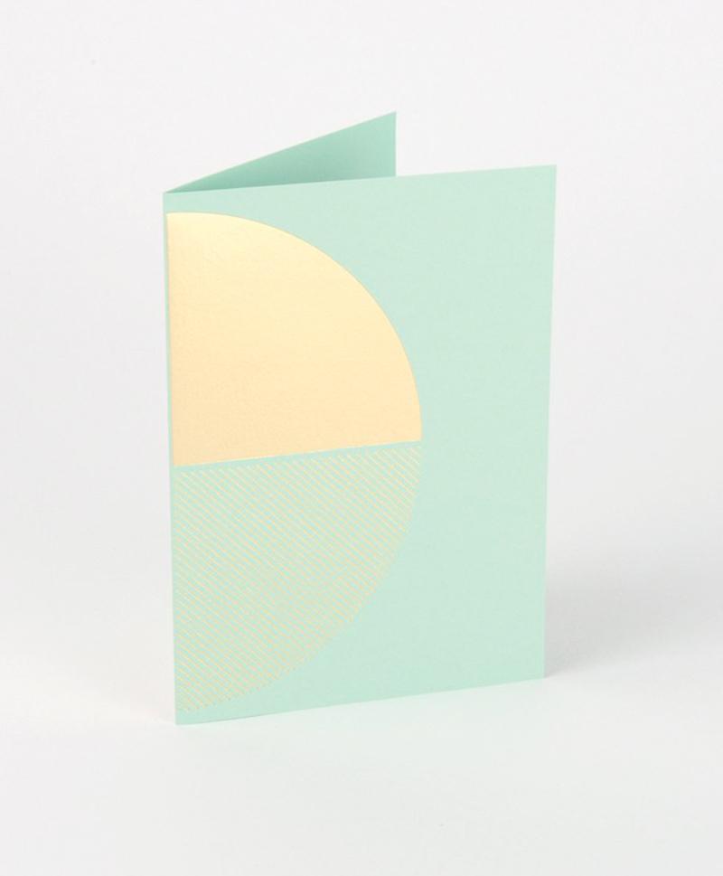 Открытка Reflex Card Brass & Mint
