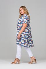Рубашка Фрида c крупными цветами L