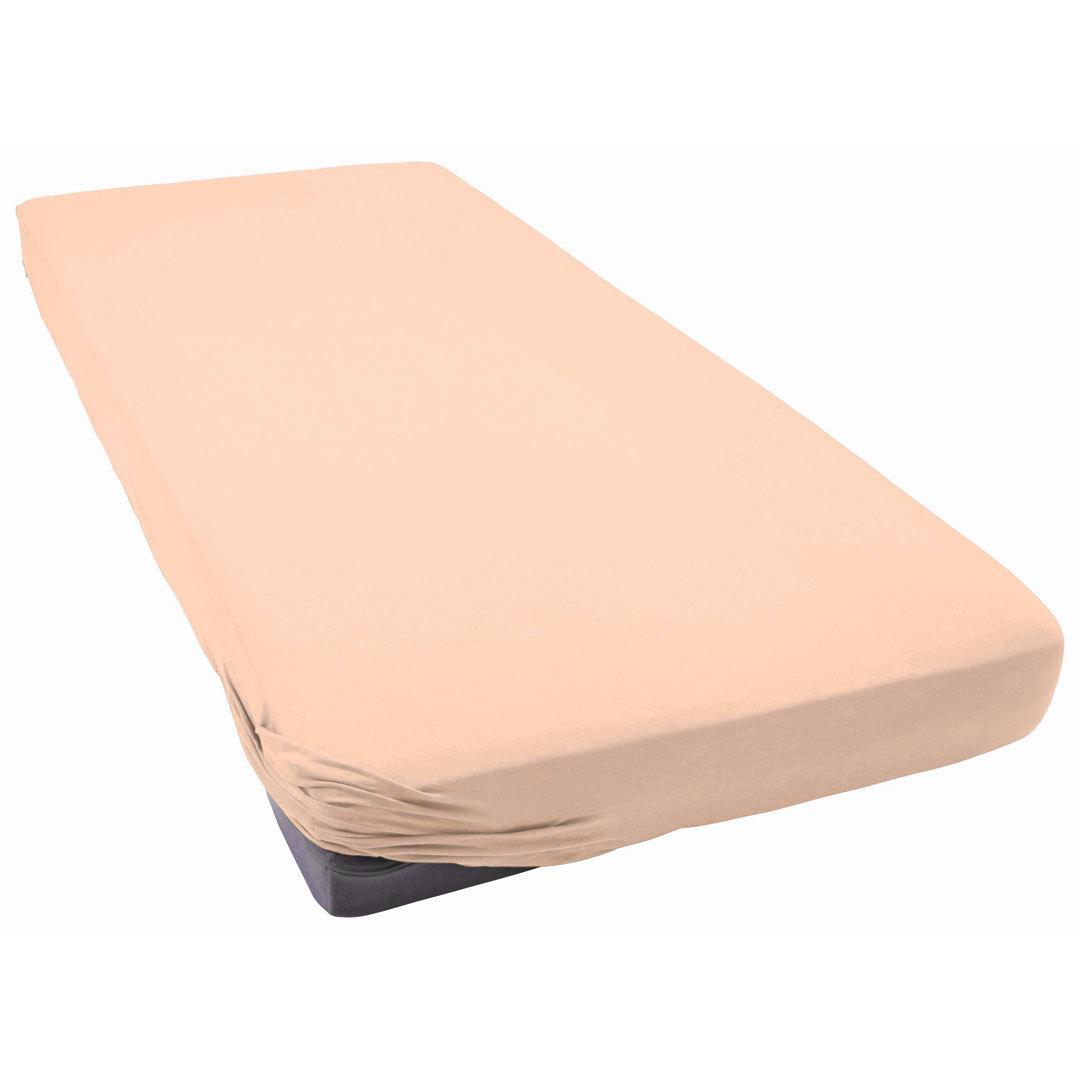TUTTI FRUTTI персик - Двуспальная простыня на резинке