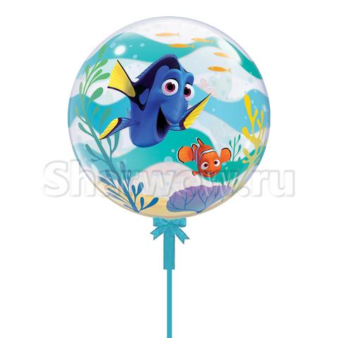 Прозрачный шар бабл по мотивам мультфильма В поисках Дори, 56 см