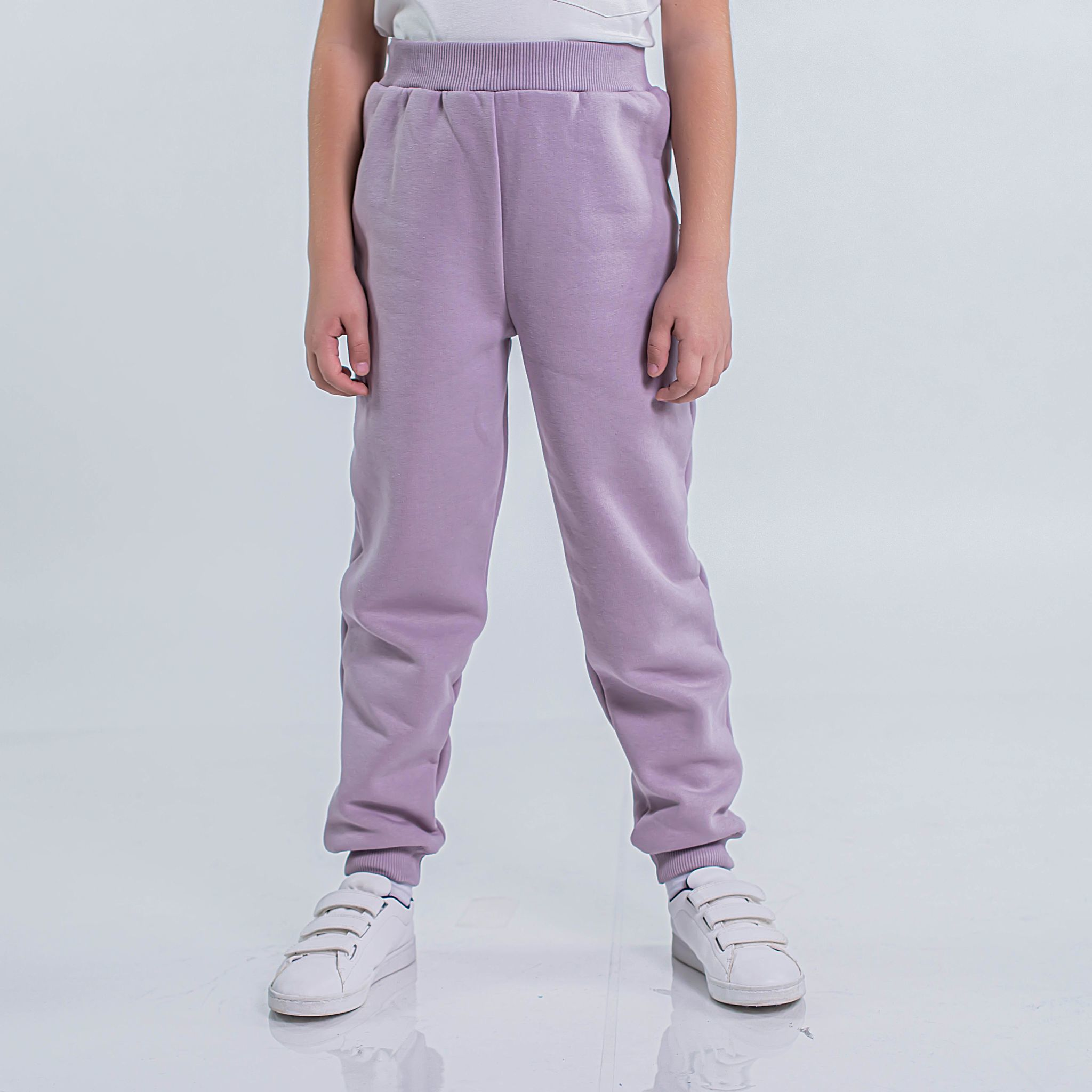 Warm trousers with pocket for teens - Heather