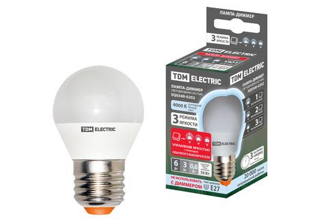 Лампа светодиодная FG45-6 Вт-230 В-3000 К–E27