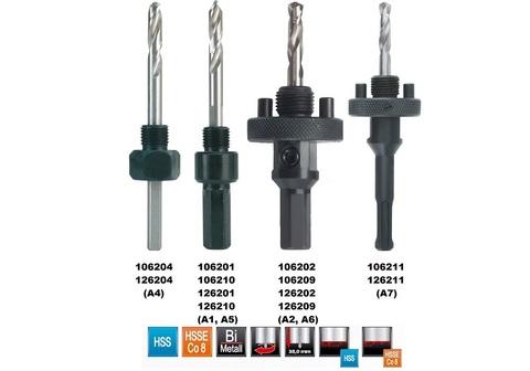 Переходник(хвостовик) для Bi-Metall коронок Ruko A6 HSS 32-210мм HEX=9,5мм 106209