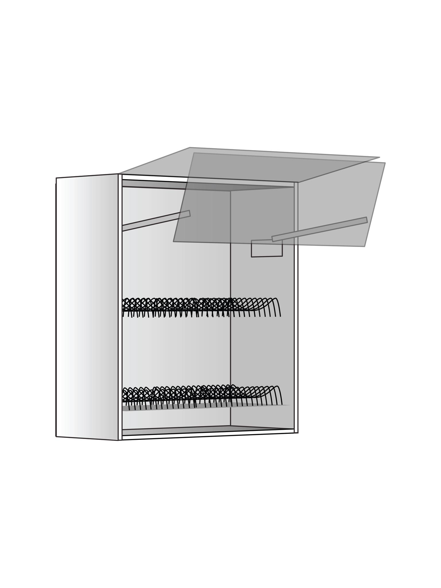 Верхний шкаф c сушилкой и подъемником, 720Х600 мм