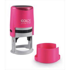 Оснастка для печати круглая Colop Printer R40 Neon 40 мм с крышкой розовая