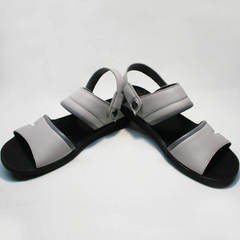 Модные мужские сандали из кожи Ikoc 3294-3 Gray.