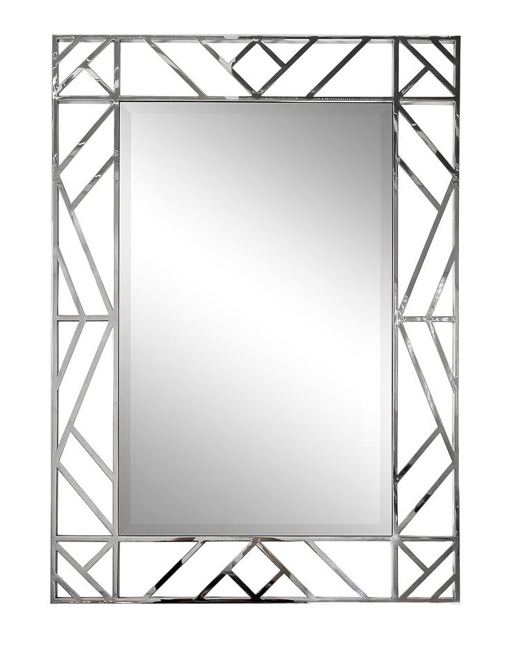 KFE1350 Зеркало прямоуг. в металл. раме цвет хром 71*99см