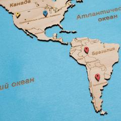 Карта путешественника из дерева Blue фото 4
