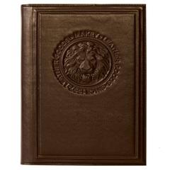 Ежедневник кожаный «Лев» коричневый