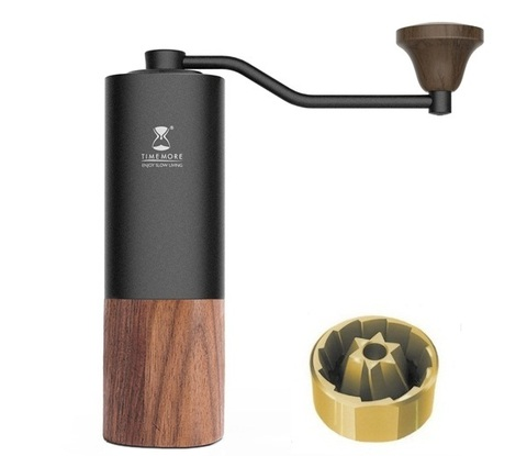 Кофемолка Timemore Chestnuts G1S с титановыми жерновами, черная
