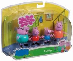 Розовая Свинка Семья набор игрушек