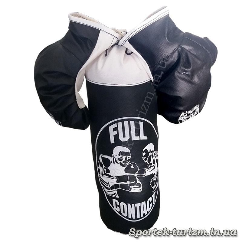 Дитячий боксерський мішок Full Contact з перчатками (висота 40 см діаметр 14 см)